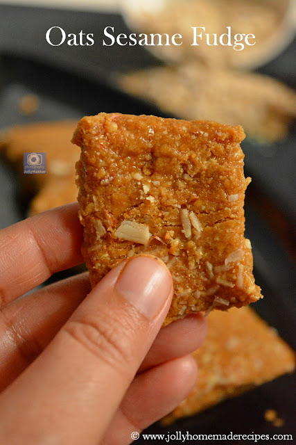 Oats Sesame Fudge Recipe
