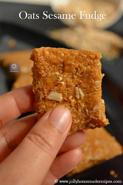 Oats Sesame Fudge Recipe