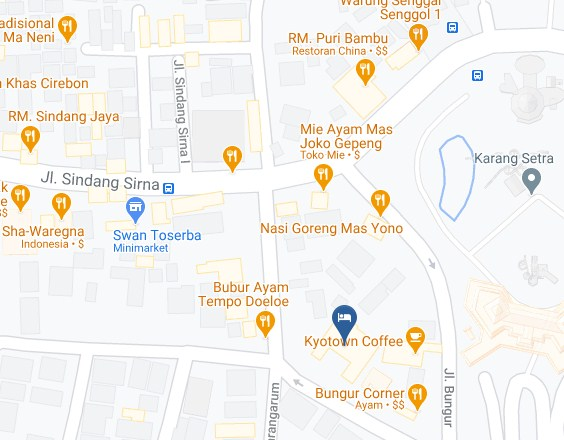 Map Letak Hotel The Victoria Luxurious Bandung