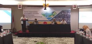 Kadis PUPR Provinsi Jambi Secara Resmi Membuka Rapat Penyiapan Readiness Criteria Proyek KPBU Bendungan Merangin.