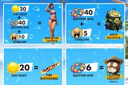 Cara Mendapatkan Swimming Ring, Sun Token dan Straw Hat Free Fire