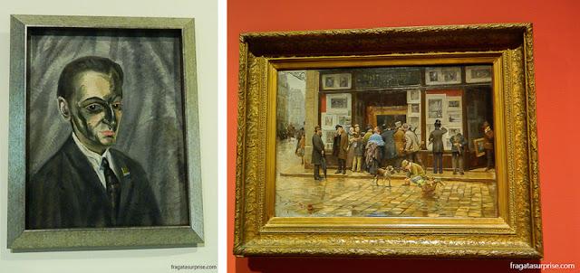 Retrato de meu pai, de Salvador Dalí, e Exibição pública de uma pintura, de Joan Ferrer Miró