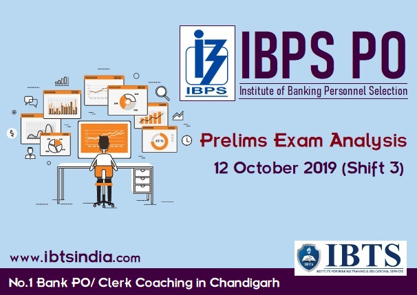 IBPS PO Prelims Exam Analysis: 12 October 2019 (Shift 3)