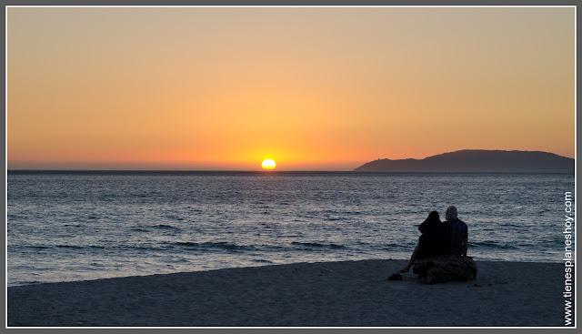 Atardecer  en Playa de Carnota (Galicia)