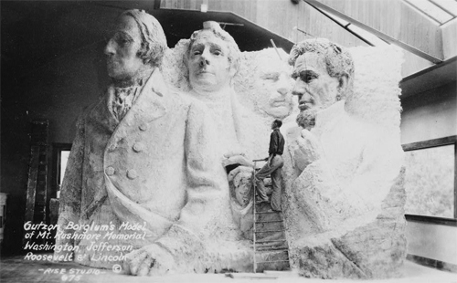 Monte Rushmore, Modelo original barro Borglum