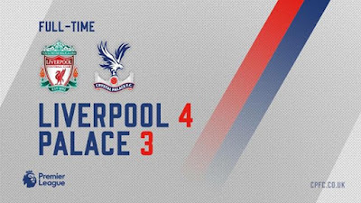 Julian Speroni's error ensured Liverpool beat Crystal Palace 4-3 to move seven points clear of Manchester City in the title race.