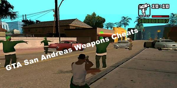 GTA San Andreas Cheat Codes For Weapon