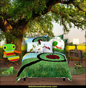 backyard bedroom decorating  outdoor theme bedroom ideas - camping theme bedroom decor  - backyard themed kids rooms  - bugs and critters theme bedrooms - Happy Camper little boys outdoor theme bedroom - tree wall decal - dog wall decal stickers - treehouse bed - girls treehouse theme bedrooms - camping room decor - camping theme room - Boy Scout Camp mural - backyard garden camping bedroom ideas