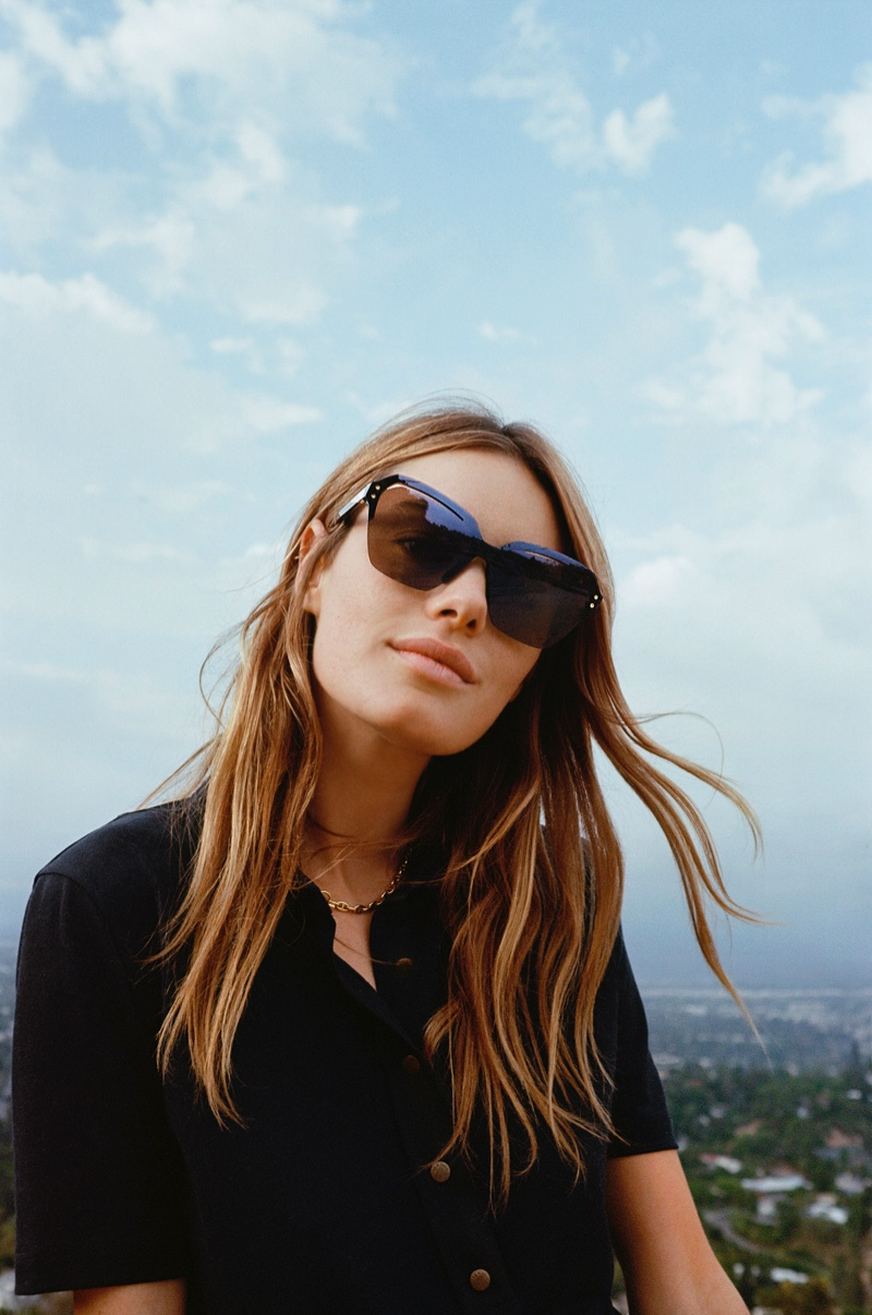 Model Camille Rowe appears in Rag & Bone Eyewear spring-summer 2020 campaign.
