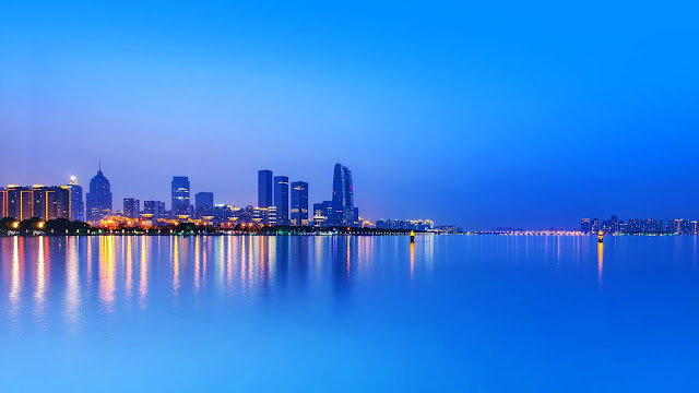 Paisagem Urbana, Cidade, Construções, Mar, Oceano, hd