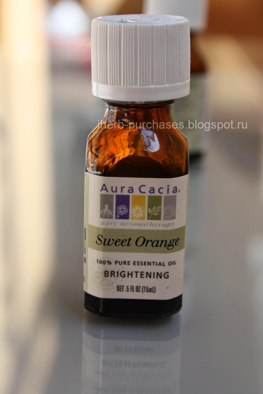 эфирное масло апельсина, от целлюлита, ароматерапия, аромалампа, отзыв, iherb