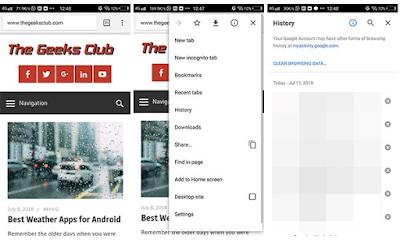 Cara menghapus history di Android, untuk menghapus riwayat pencarian di Android