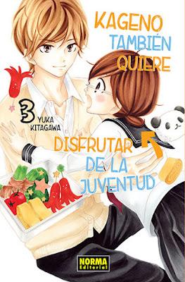 Manga: Review de Kageno también quiere disfrutar de la juventud Vol.3 de Yuka Kitagawa - Norma editorial
