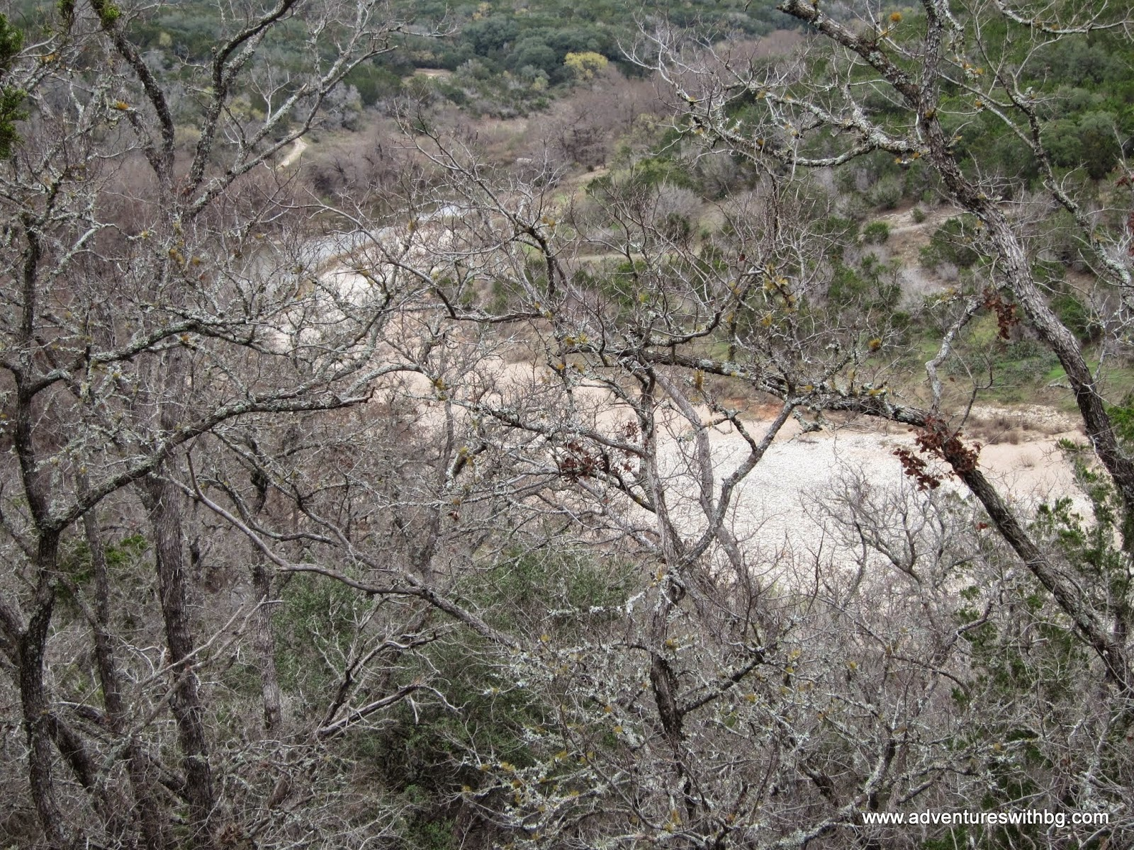on the Wolf Mountain Trail at Pedernales Falls State Park