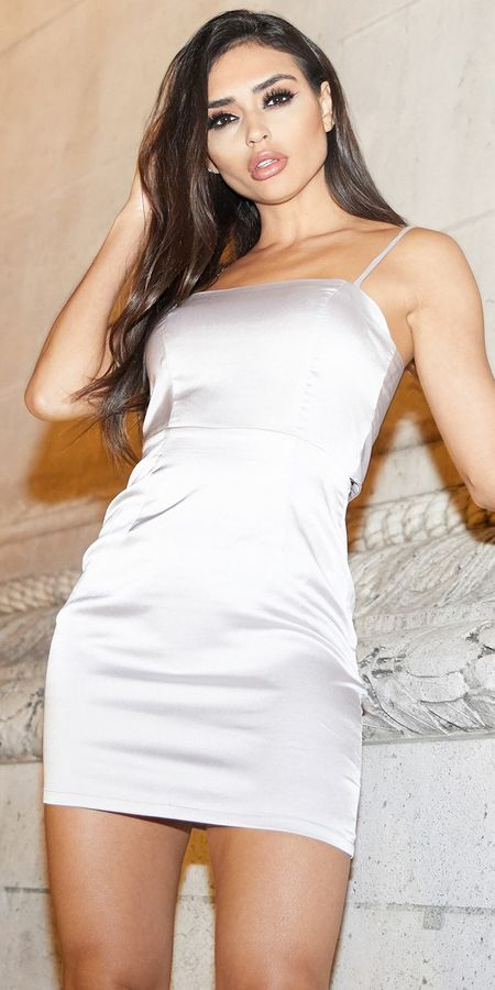 Rosie silver tie back satin mini dress | Looking for new year outfits ideas? Discover these 35+ New years outfits and new year clothes which are perfect as winter party outfits. party outfits ideas via higiggle.com outfit new year | party outfit night #fashion #style #outfits #party