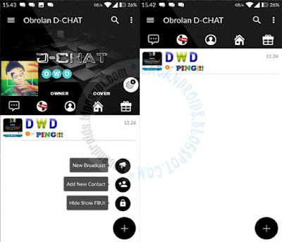 BBM Mod D-Chat v1.0.51 Terbaru Base Versi 3.0.1.25 Apk For Androiid Clone And Not CLone