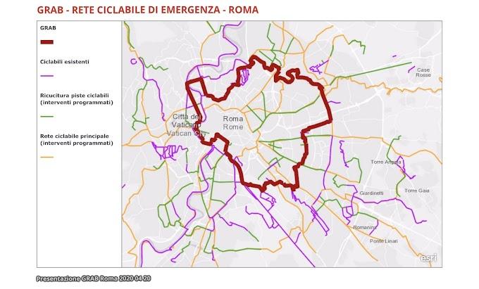 Roma, ecco la #ReteCiclabilediEmergenza