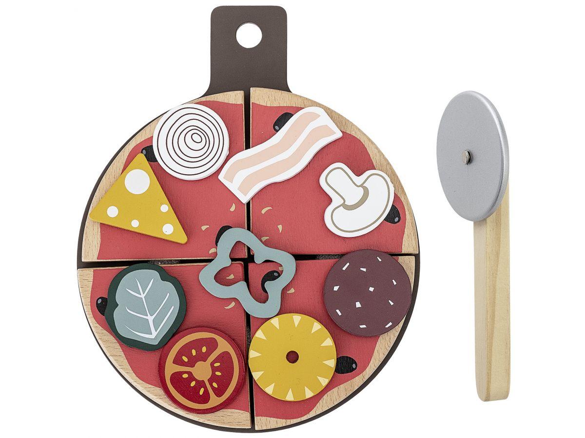 Pizza zabawka z drewna