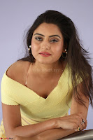 Shipra gaur in V Neck short Yellow Dress ~  025.JPG