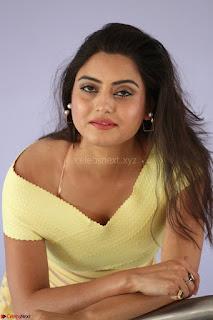 Shipra gaur in V Neck short Yellow Dress ~  025.JPG