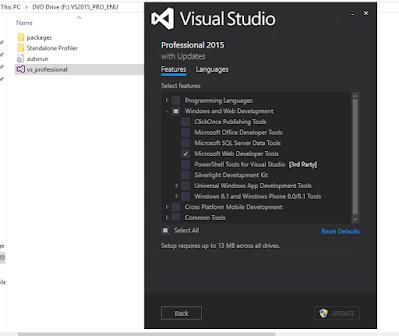 Cara Menginstall Visual Studio Profesional 2015 Full Gambar