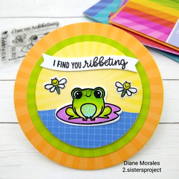 Sunny Studio Stamps: Feeling Froggy Customer Card by Diane Morales