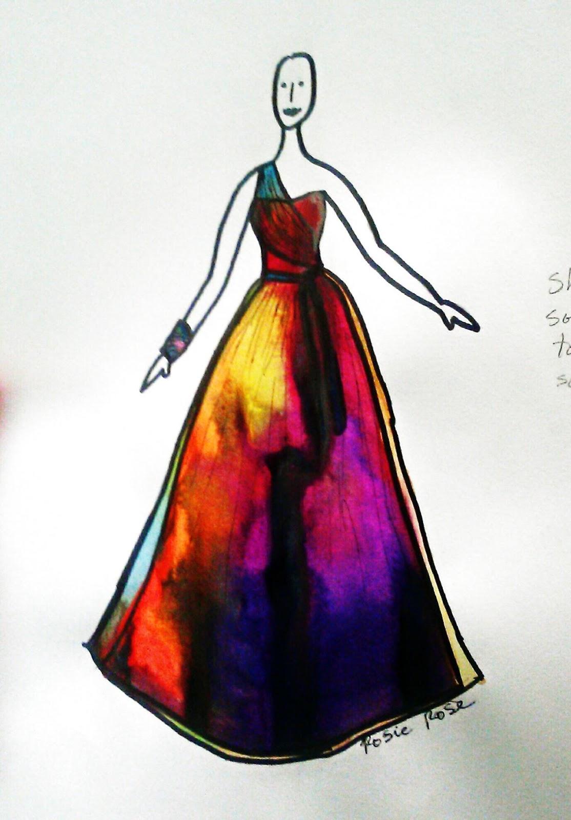 Rosie Rose Designer: Wedding Gown Sketches