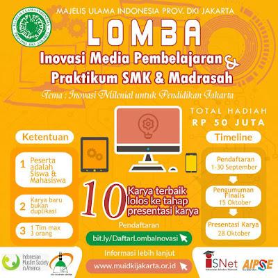 Lomba Inovasi Media Pembelajaran dan Praktikum untuk SMK dan Madrasah Tahun 2019