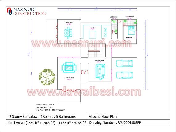 Pelan skematik rumah banglo