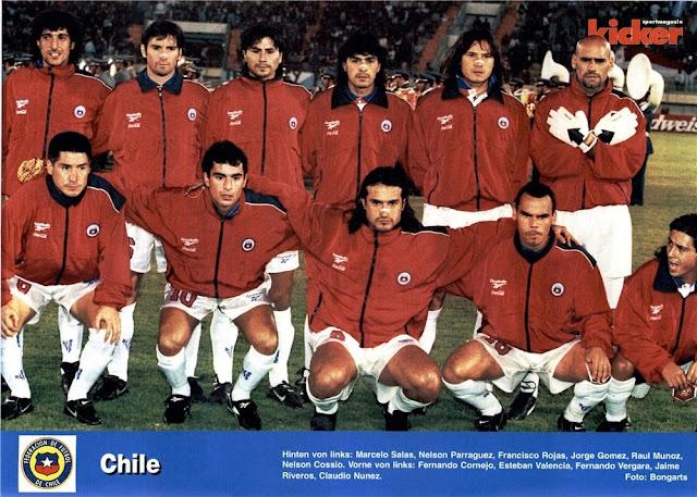 Formación de Chile ante Paraguay, Copa América 1997, 11 de junio