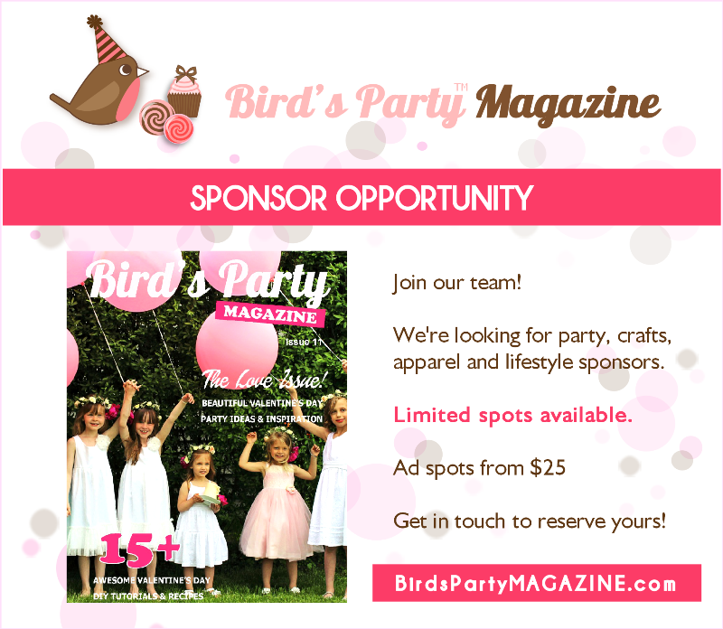 Bird's Party Ideas Magazine | Join The Party - BirdsParty.com