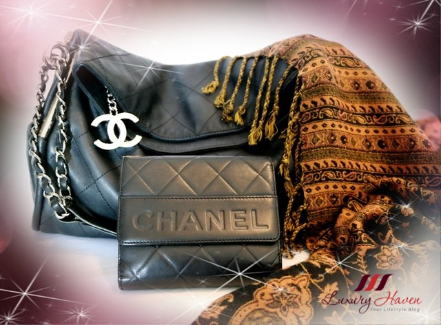 luxury haven authentic chanel lambskin ligne cambon wallet