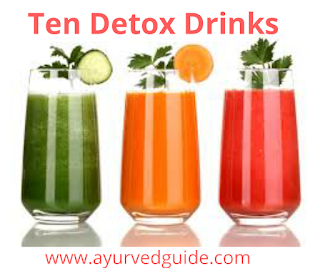 Ten Detox Drinks for Weightloss