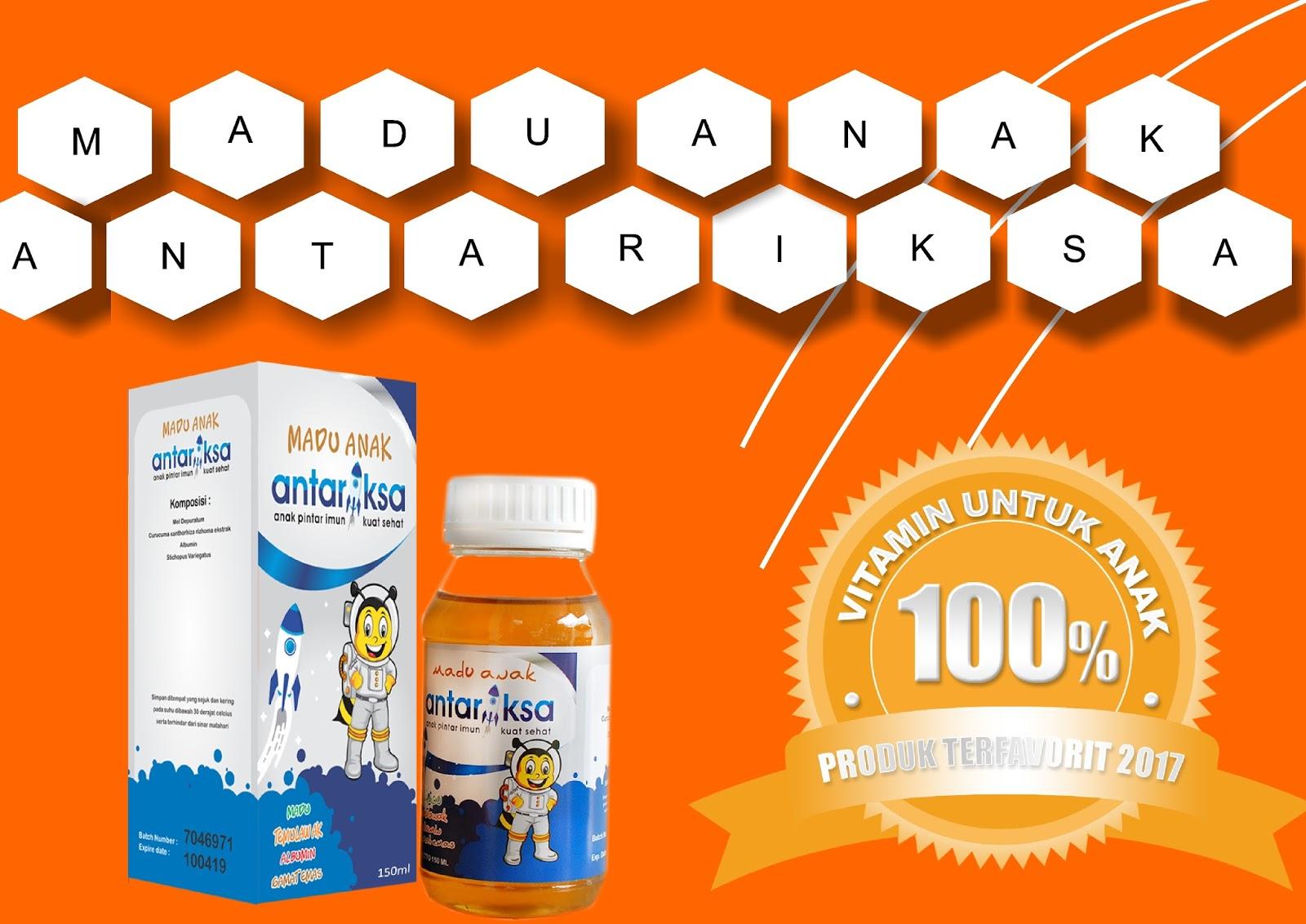 Vitamin Anak Madu Antariksa Latar Belakang Oranye
