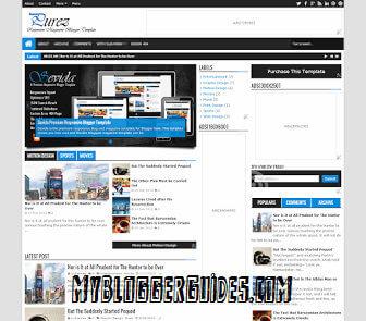 Purez Responsive Blogger Template, Best SEO Optimized Blogger Template, AdSense Friendly Blogger Template