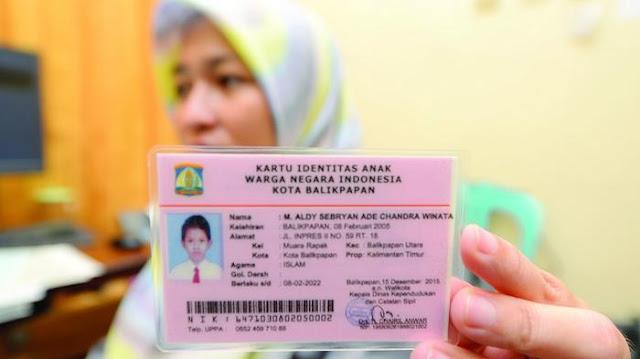 KTP Anak atau Kartu Identitas Anak (KIA)