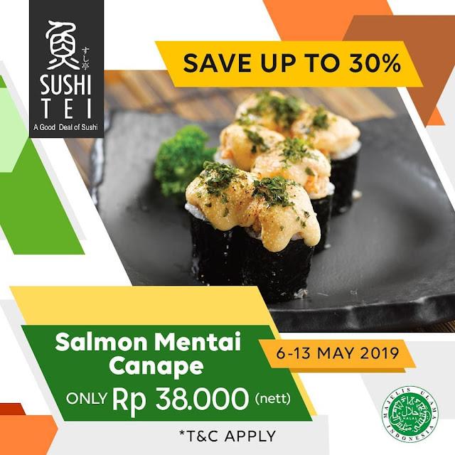 #ShushiTei - #Promo Salmon Mentai Canape Only 38 K (s.d 13 Mei 2019)