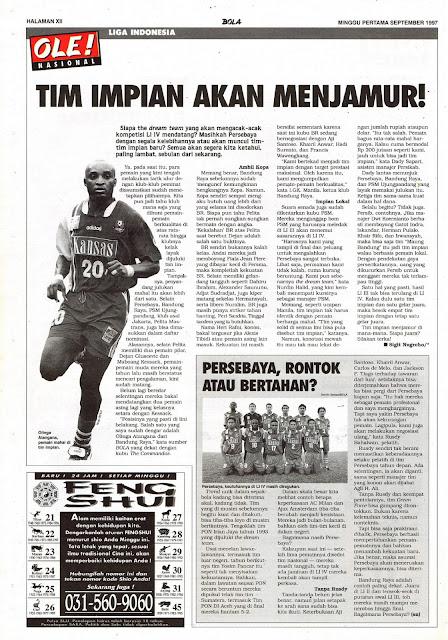 LIGA INDONESIA: TIM IMPIAN AKAN MENJAMUR!