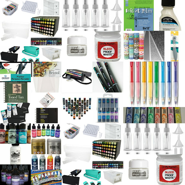 Recommended marker supplies for alcohol marker enthusiasts, gifts for marker artists, gifts for alcohol marker users, gifts for artists, gifts for crafters