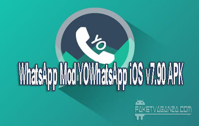 WhatsApp Mod YOWhatsApp iOS v7.90 APK Theme iPhone For Android