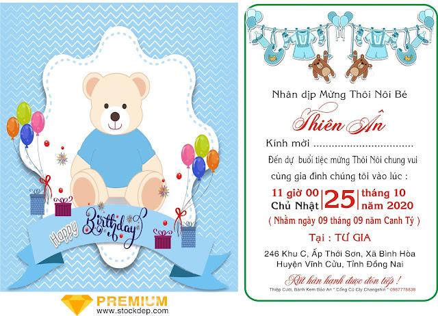 Thiệp sinh nhật chú gấu