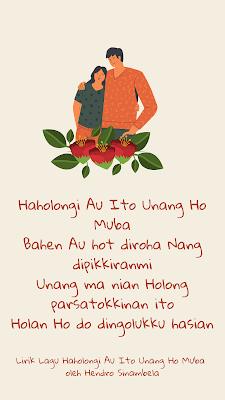 lirik lagu haholongi au ito unang ho muba dan kunci gitar hendro sinambela