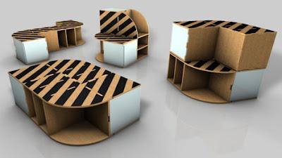 giá để đồ làm từ thùng carton