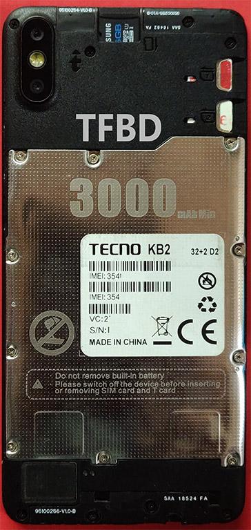 Tecno KB2 Flash File | MT6761 | 32+2 D2