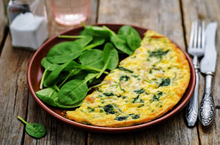 Keto Goat Cheese Frittata with Spinach