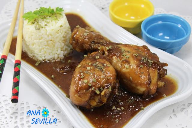 Jamoncitos de pollo teriyaki Con Thermomix Ana Sevilla