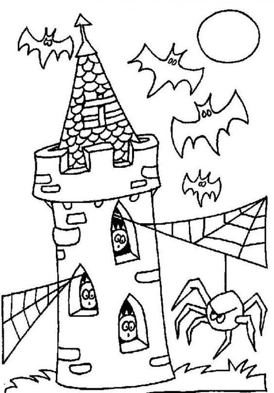 Tranh tô màu Halloween rùng rợn