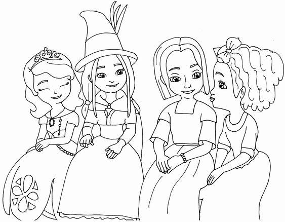 Tranh cho bé tô màu công chúa Sofia 29