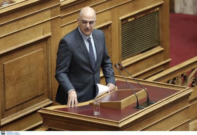 Δένδιας: Η Ελλάδα δεν ανέχεται απειλές πολέμου
