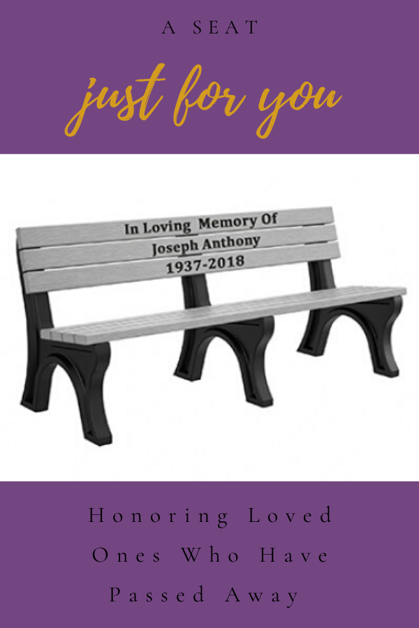 Instead, why not set up a bench as we have - bench with name and birthday and date person passed away - wedding planning services offered - wedding ideas blog by K'Mich Weddings in Philadelphia PA